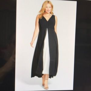 V Neck Jumpsuit With Overlay